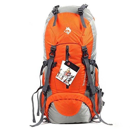 50L im Freienberg Tasche Nylon Sporttasche ultraleichten Rucksack Wandern Outdoor-Mode Schultertaschen Orange qPVbBJco2