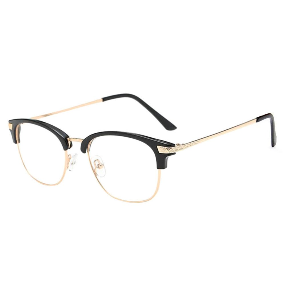 Deylaying Near Sighted Half Rim Anti-Radiation Short Distance Glasses Myopia Eyeglass -1.0 to -6.0 (These are not reading glasses)