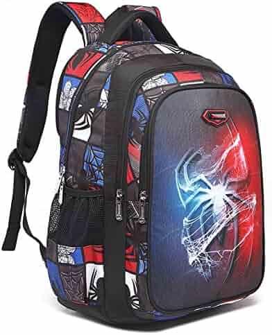 YOURNELO Boy s Leisure Marvel DC Comics Travel Rucksack Backpack Bookbag  (Spider Man) f759442074