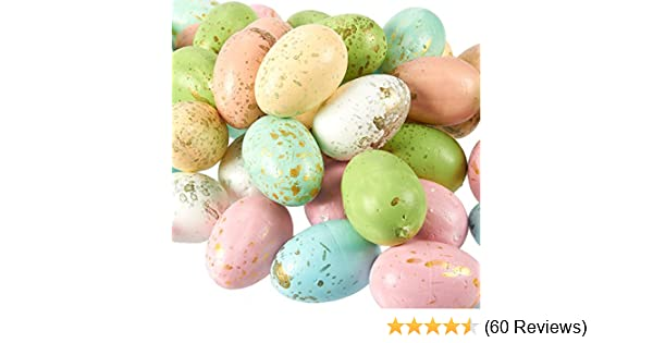 Ready To Paint Or Decorate Set Of 24 White Foam Craft  Easter Eggs