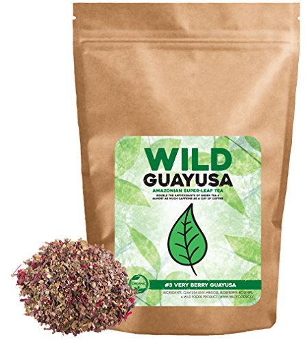 Organic Guayusa Tea, Loose Leaf Amazonian Superleaf Tea by Wild Foods, Full of Antioxidants and Caffeine, Smooth non-bitter flavor, Preserves Rainforest (#3 Very Berry Guayusa, 4 (Full Flavor Foods)