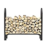 gel fuel can holder - Regal Flame 4 Foot Heavy Duty Firewood Log Rack Outdoor Firewood Holder in Black