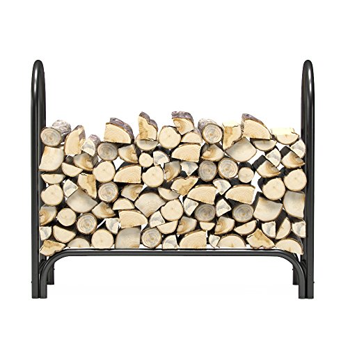 (Regal Flame 4 ft Heavy Duty Firewood Shelter Log Rack for Fireplaces and Fire Pits to Enjoy a Real Fire or Complement Vent-Free, Propane, Gas, Gas Inserts, Ethanol, Electric, Indoor Outdoor Fireplaces )