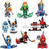 New Hot Arrival Mini Toys for Children Kids NEXO Knights Series Model PlaySets Minifigures Building Brick Blocks Toy, 8Pcs/Set ABS Plastic Multi-color