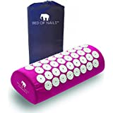 Bed of Nails The Original Acupressure Pillow for Neck Pain and Relaxation (Pink)