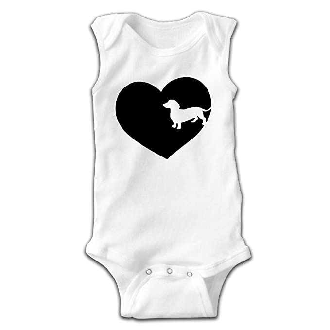 Amazon Com Dachshund Love Silhouette Baby Newborn Crawling Clothes