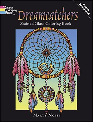 dreamcatchers stained glass coloring book dover design stained glass coloring book