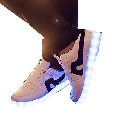 af1ba03ccc5d6 Amazon.com | ALLAK USB Charging Light Up Shoes Sports LED Shoes ...
