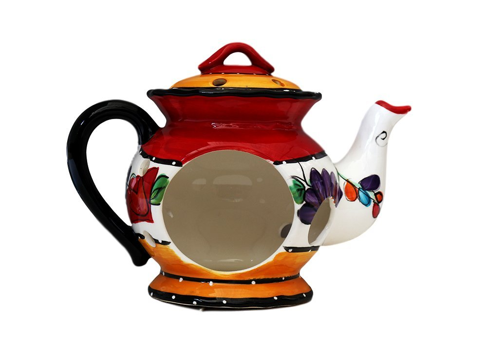 Tuscan Casa Cortes Hand Painted Tutti Frutt Collection Ceramic Electric Tart/Wax Burner 8-1/2''H, 89564 By Ack by ACK (Image #3)