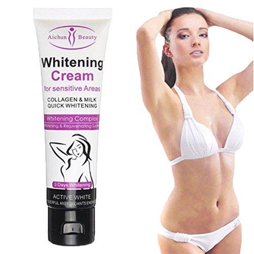 50G Whitening Cream for Dark Skin Armpit Elbow Lightening Bikini Underarm Thigh Leoie