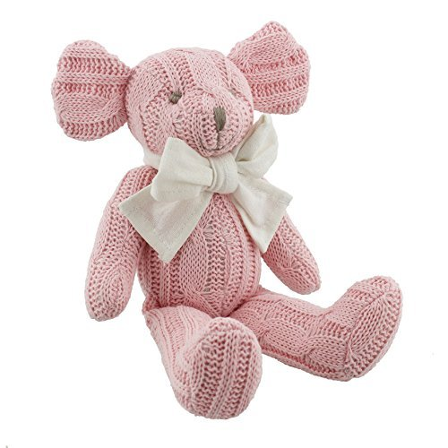Baby Girl Gift Petit Cheri Vintage Baby Collection Sitting Mouse 15cm by ukgiftstoreonline