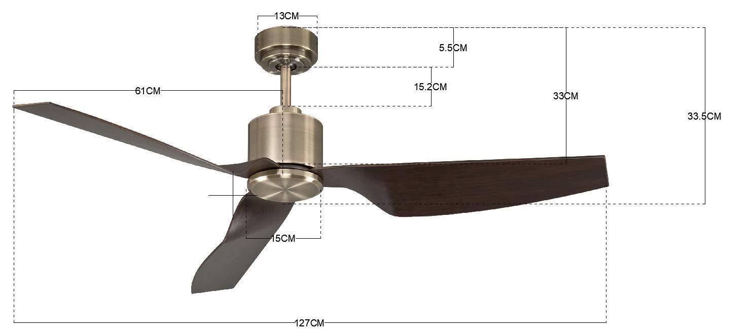 ECO-DC-Motor energiesparend 127 cm Durchmesser mit Fernbedienung Sommer//Winter Lauf Lucci air Airfusion Climate II Deckenventilator 6 Stufen 35 W Wei/ß