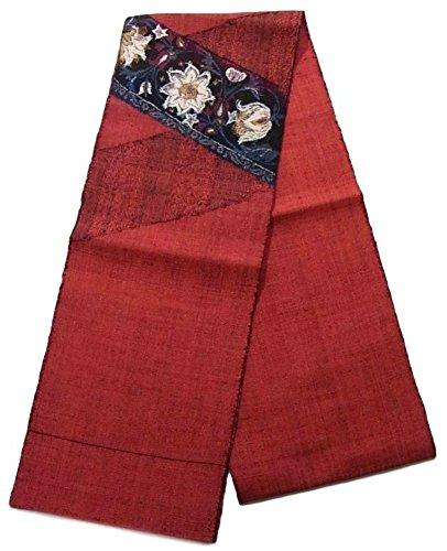 読みやすさ補助事前にリサイクル 名古屋帯 紬 花模様 八寸 正絹