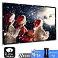 Projector Screen 120 inch 16:9 HD Portable Foldable Projection Screen Anti-Crease Support Double Sided Projection