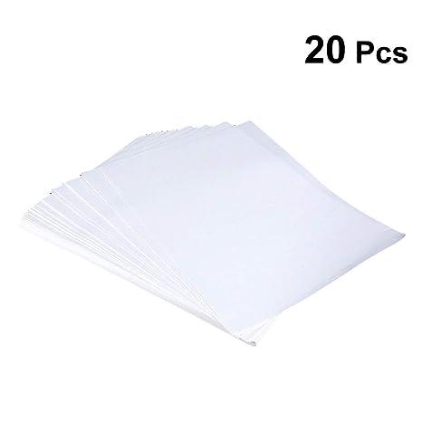 Artibetter - 20 Camisetas de Transferencia de Papel para ...