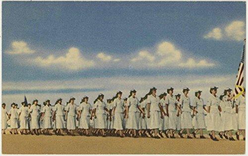 WAF Parade Lackland Air Force Base - San Antonio Texas - Vintage Military Postcard