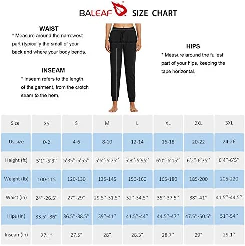 BALEAF Women's Sherpa Lined Joggers Warm Fleece Athletic Sweatpants Winter Lounge Walking Pants