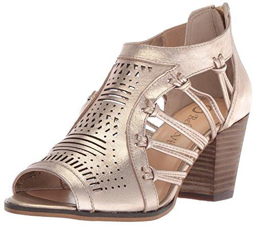 Bella Vita Women's KORTEZ Heeled Sandal, Champagne Leather, 9 M US from Bella Vita