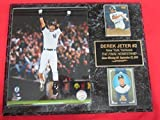 Yankees Derek Jeter 2 Card Collector Plaque #5 w/ 8x10 2014 FINAL HOME GAME Commemorative Photo