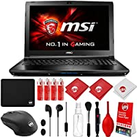 MSI GL62M 7RDX-1096 Intel i7-7700HQ 2.8GHz (3.8GHz Boost) 16GB 1TB HDD NVIDIA GeForce GTX1050 2GB 15.6 HD eDP IPS Win 10 Gaming Computer Notebook Laptop with Kit (GL62MX1096)