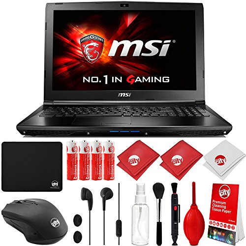 MSI GL62M 7RDX-1096 Intel i7-7700HQ 2.8GHz (3.8GHz Boost) 16GB 1TB HDD NVIDIA GeForce GTX1050 2GB 15.6' HD eDP IPS Win 10 Gaming Computer Notebook Laptop with Kit (GL62MX1096)