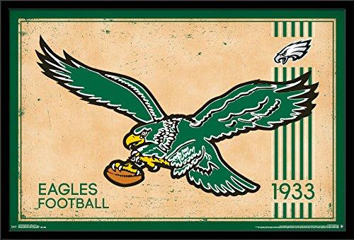 Trends International Philadelphia Eagles - Retro Logo Wall Poster, 24.25