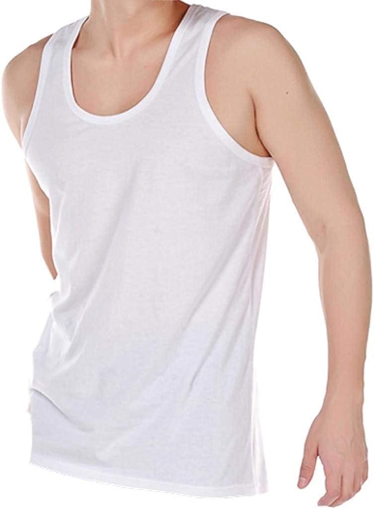 Pack de 6 Hombres 100% Algodón Verano Peso Singlet Camiseta Ropa ...