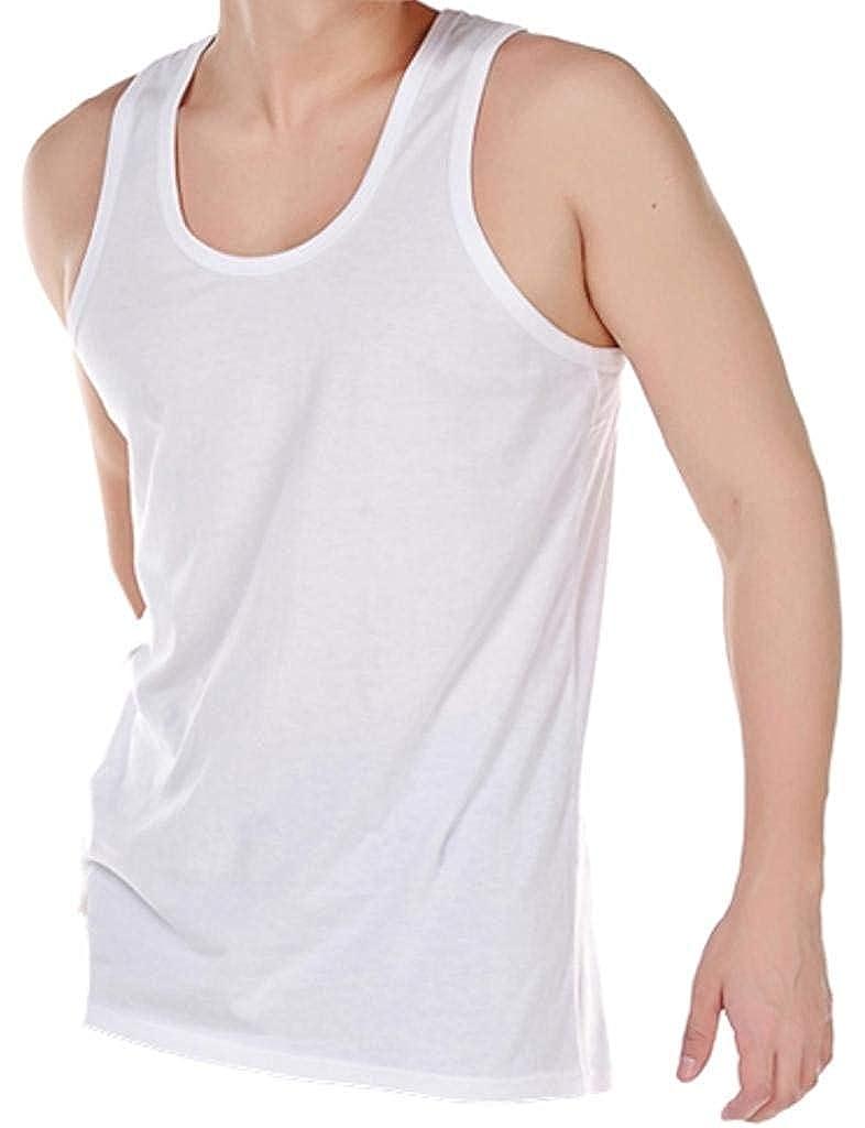 TALLA S 89 cm- 94 cm (88-93 cms). Pack de 6 Hombres 100% Algodón Verano Peso Singlet Camiseta Ropa interior / Blanco / Disponible en las tallas Pequeño / Mediana / Grande / Xl / XX grande
