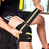 """KYLIN SPORT 79"""" Knee Wrap (Pair) Elasticated Compression Knee Support for Cross Training WODs Gym Workout Weightlifting Fitness Powerlifting Knee Straps for Squats"""