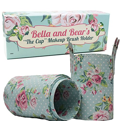 Makeup Brush Holder by Bella and Bear - Perfect as a travel holder and as a decorative addition to your (Bella Bag)