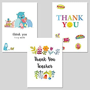 Teacher Thank You Cards Pack Of 6 Amazon Co Uk Office Products
