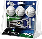 LinksWalker NCAA Naval Academy Midshipmen - 3 Ball Gift Pack with Hat Trick Divot Tool