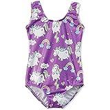 Gymnastics Leotards for Girls Unicorn Pink Purple Sparkly Dancewear Activewear Quick Dry