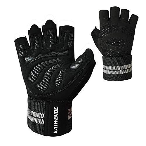 KAIWENDE Men Or Women Gym Workout Gloves with Long Wrist