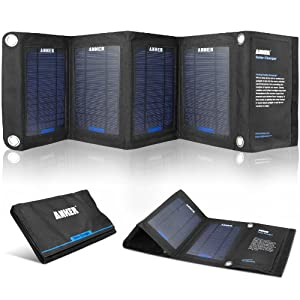 Anker 14W Solar Panel Foldable Dual-port Solar Charger