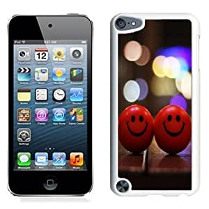 NEW Unique Custom Designed iPod Touch 5 Phone Case With Red Happy Smiley_White Phone Case Kimberly Kurzendoerfer