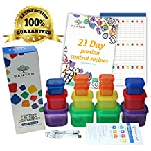 Banyan Products -21 Day Portion Control Container set - Double sets(14 containers) with GUIDE + FREE MEASURING TAPE+Free E-book with 21 RECIPES and GUIDE with 21 day tally chart