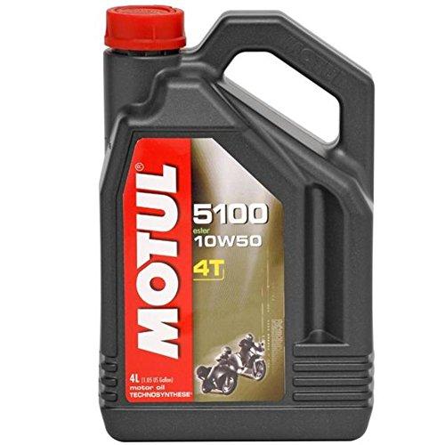 Motul 5100 4T Synthetic Ester Blend Motor Oil - 10W50 - 1L. 836815 / 101415 ()