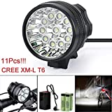 DEESEE(TM) Flashlight 28000LM 11 x CREE XM-L T6 LED 8 x 18650 Bicycle Cycling Light Waterproof Lamp