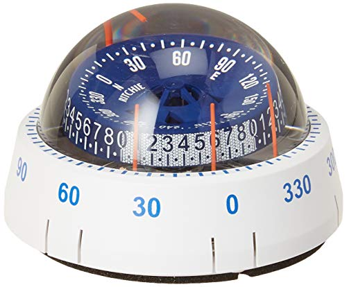 Ritchie Navigation XP-98W X-Port Tactician Surface Mount Compass, White with Blue Dial