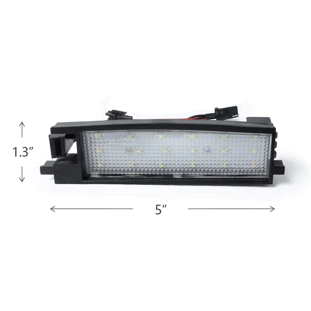 GemPro 2Pcs LED License Plate Lights Lamp Kit For TOYOTA Prius Yaris Lexus Powered by 18SMD Xenon White LED Lights License Plate Light
