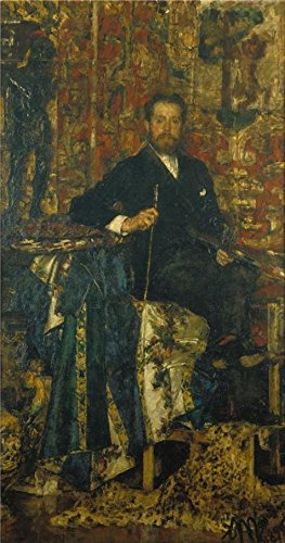 The High Quality Polyster Canvas Of Oil Painting 'Antonio Mancini - The Marquis Del Grillo,1889' ,size: 20x38 Inch / 51x97 Cm ,this Best Price Art Decorative Canvas Prints Is Fit For Kitchen Decor And Home Gallery Art And Gifts (Envelope Marquis)