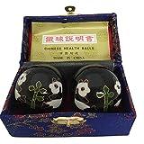 Baoding Balls Chinese health Massage Exercise Stress Balls -Black Panda #3