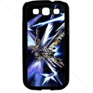 Gundam Manga Anime for Samsung Galaxy S3 SIII I9300 TPU Soft Black or White case (Black)