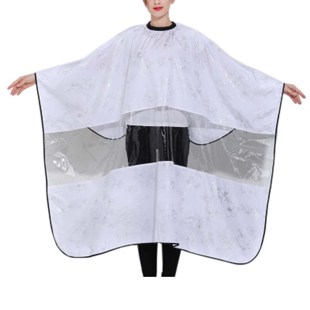 FANCY PUMPKIN Salon Gown Hair Cutting Cape Barber Smocks Haircut Cover Cloth with Viewing Window, C