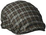 british gentleman - Country Gentleman Men's British Classic Patterned Flat IVY Cap, Black/Multi Check, S