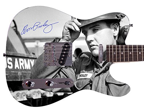 Elvis Presley Autographed Signed Custom Graphics Guitar