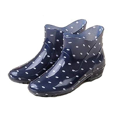 Hanxue Womens Waterproof Garden Shoes Rain Boots | Rain Footwear