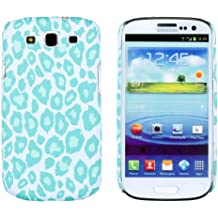 LightBlue Leopard Print Embossed Slim Fit Hard Case for Samsung Galaxy S3 (AT&T, T-Mobile, Sprint, Verizon, US Cellular, International) [Retail Packaging by DandyCase with FREE Keychain LCD Screen Cleaner]