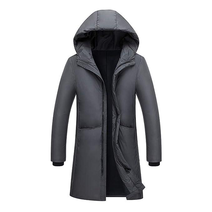 Fowii Uomo Lunghe E Calde 95% Piumino D Oca Affari Invernale Hooded Piumino  Cappotto Grigio  Amazon.it  Abbigliamento 6abea8993ec